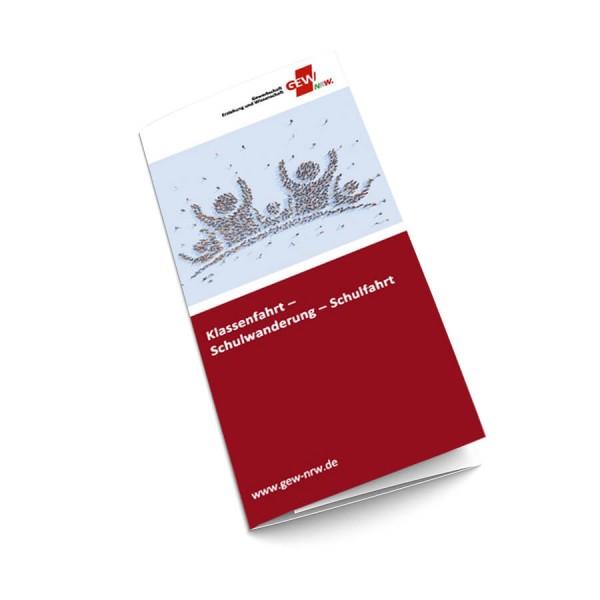 "Flyer "" Klassenfahrt - Schulwanderung - Schulfahrt"" (50 Stück)"
