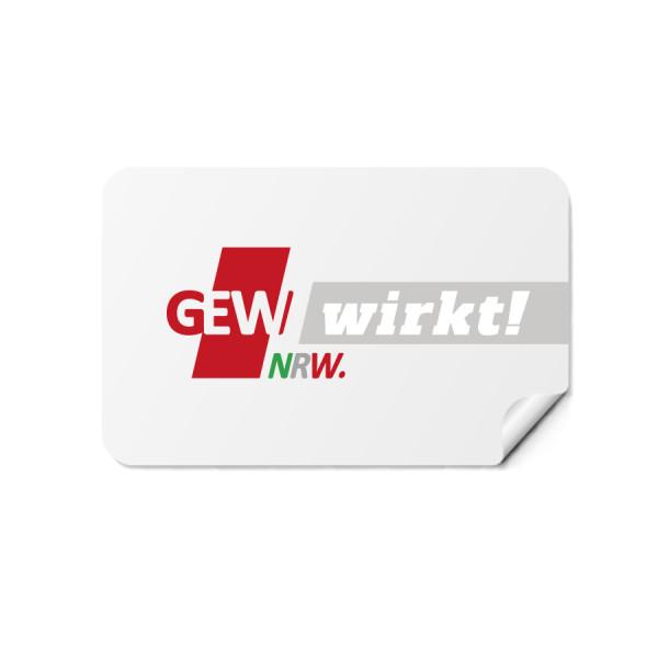"""Aufkleber """"GEW wirkt!"""" (50 Stück)"""