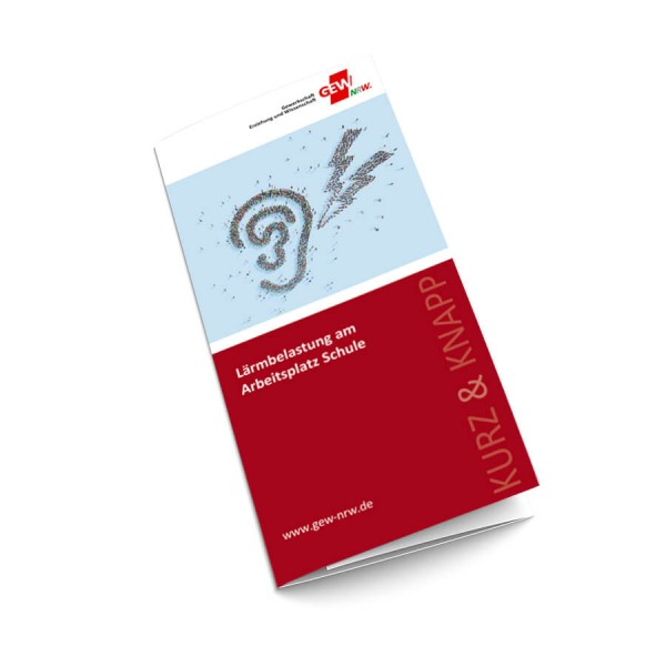 "Flyer ""Lärmbelastung am Arbeitsplatz Schule"" (50 Stück)"
